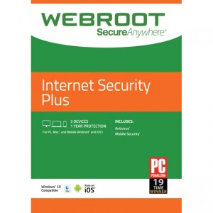 Webroot IS Plus 3 Devices Retail license