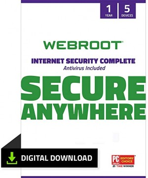Webroot IS Complete 5 Devices Retail license