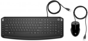 HP Pavilion 250 keyboard USB QWERTZ Czech Black