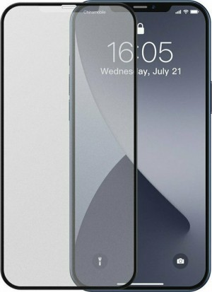 Baseus 2x Curved Frosted Full Face Tempered Glass Black (iPhone 12 mini)