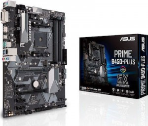 ASUS MOTHERBOARD PRIME B450-PLUS ,AM4 ,ATX